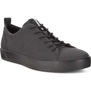 エコー メンズ スニーカー シューズ Soft 8 Lace Up Sneaker Black Cow Leather/Black astyshop