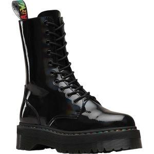 ドクターマーチン レディース ブーツ&レインブーツ シューズ Jadon Hi Platform Boot Black Rainbow Patent Leather astyshop