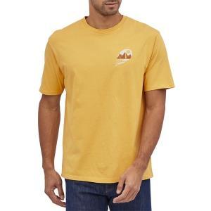 パタゴニア メンズ Tシャツ トップス Patagonia Tube View Organic T-Shirt Mountain Yellow astyshop