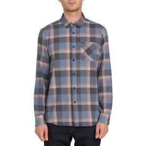 ボルコム メンズ シャツ トップス Volcom Caden Plaid Long-Sleeve Shirt Stormy Blue|astyshop