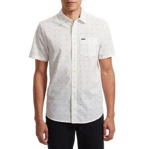 ボルコム メンズ シャツ トップス Volcom Stallcup Short-Sleeve Shirt White|astyshop
