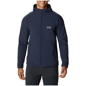 マウンテンハードウェア メンズ Tシャツ トップス Mountain Hardwear Keele Grid Hoodie Dark Zinc astyshop