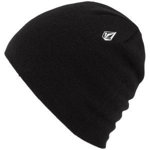 ボルコム メンズ 帽子 アクセサリー Volcom Woolcott Beanie Black|astyshop