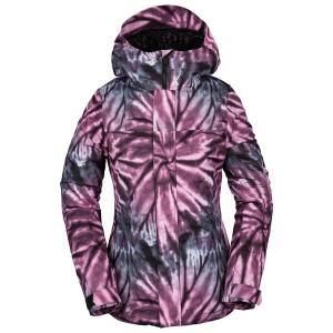 ボルコム レディース ジャケット&ブルゾン アウター Volcom Bolt Insulated Jacket - Women's Tie-Dye Print Purple|astyshop