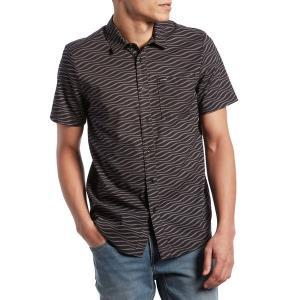 ボルコム メンズ シャツ トップス Volcom Levstone Vibes Short-Sleeve Shirt Dark Charcoal|astyshop