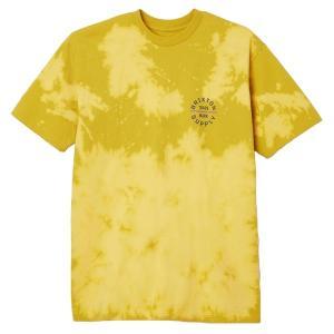 ブリクストン メンズ Tシャツ トップス Brixton Oath V T-Shirt Yellow Curry Sun Wash astyshop