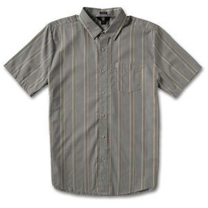ボルコム メンズ シャツ トップス Volcom Maiberger Short-Sleeve Shirt Cool Blue|astyshop