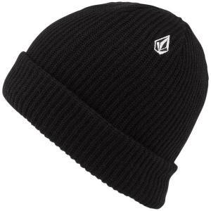 ボルコム メンズ 帽子 アクセサリー Volcom Sweep Lined Beanie Black|astyshop