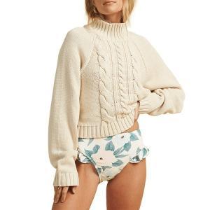 ビラボン レディース ニット&セーター アウター Billabong x The Salty Blonde Salty Days Sweater - Women's White Cap|astyshop