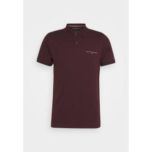 トミー ヒルフィガー ポロシャツ メンズ トップス CLEAN SLIM - Polo shirt - deep burgundy|astyshop