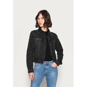リュー ジョ ジーンズ コート レディース アウター GIUBBINO BRILLANT - Denim jacket - black try wash astyshop