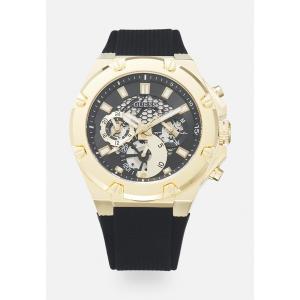 ゲス 腕時計 メンズ アクセサリー THIRD GEAR - Chronograph watch - gold-coloured/black|astyshop