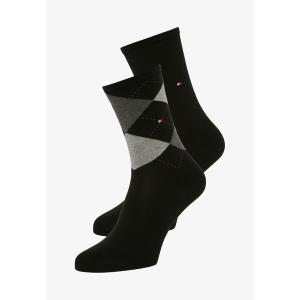 トミー ヒルフィガー 靴下 レディース アンダーウェア 2 PAIRS PACK - Socks - black|astyshop