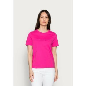 トミー ヒルフィガー Tシャツ レディース トップス REGULAR TONAL HILFIGER - Print T-shirt - pink|astyshop