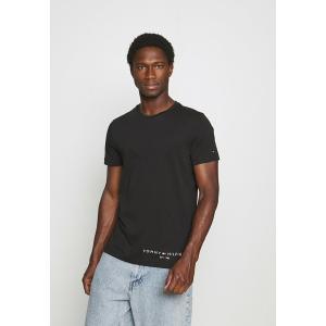 トミー ヒルフィガー Tシャツ メンズ トップス LOGO TEE - Print T-shirt - black|astyshop