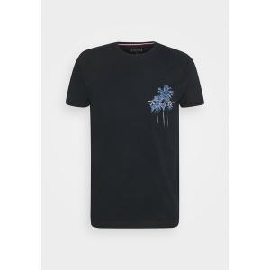 トミー ヒルフィガー Tシャツ メンズ トップス PALM BOX PRINT TEE - Print T-shirt - desert sky|astyshop