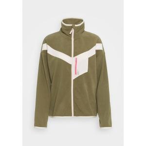 ロキシー コート レディース アウター WALKINF O T WLD J OTLR TNF - Fleece jacket - covert green astyshop