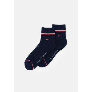 トミー ヒルフィガー 靴下 メンズ アンダーウェア MEN ICONIC QUARTER  2 PACK - Socks - dark navy|astyshop