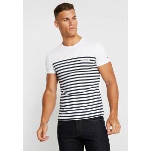 トミー ヒルフィガー Tシャツ メンズ トップス BRETON TEE - Print T-shirt - white|astyshop