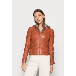 ジプシー コート レディース アウター AMMY LACUV - Leather jacket - burned orange astyshop