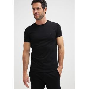 トミー ヒルフィガー Tシャツ メンズ トップス NEW STRETCH TEE C-NECK - Basic T-shirt - flag black|astyshop