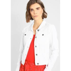 ノイジーメイ コート レディース アウター NMDEBRA - Denim jacket - bright white astyshop