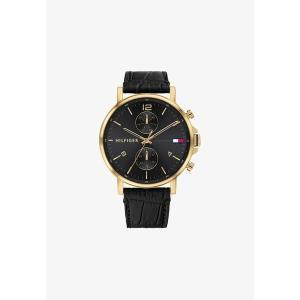 トミー ヒルフィガー 腕時計 メンズ アクセサリー Chronograph watch - black|astyshop