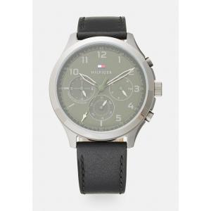 トミー ヒルフィガー 腕時計 メンズ アクセサリー ASHER - Chronograph watch - black/green|astyshop