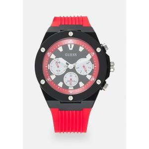 ゲス 腕時計 メンズ アクセサリー Chronograph watch - black|astyshop