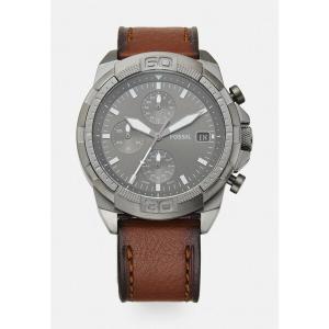 フォッシル 腕時計 メンズ アクセサリー BRONSON - Chronograph watch - silver-coloured|astyshop