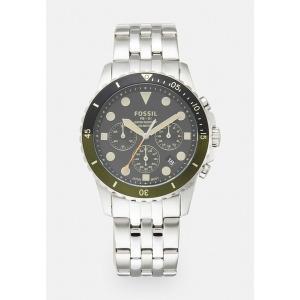 フォッシル 腕時計 メンズ アクセサリー Chronograph watch - silver-coloured/black|astyshop