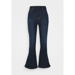 アメリカンイーグル デニムパンツ レディース ボトムス CURVY SUPER HI RISE FLARE - Flared Jeans - true rinse|astyshop