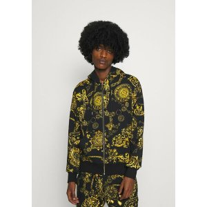 ベルサーチ パーカー・スウェットシャツ メンズ アウター BRUSHED PRINT REGALIA BAROQUE - Zip-up sweatshirt - nero/oro astyshop