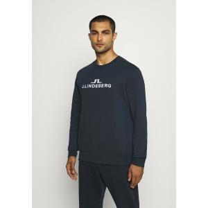 ジェイ リンドバーグ パーカー・スウェットシャツ メンズ アウター ALPHA CREW NECK - Sweatshirt - navy astyshop