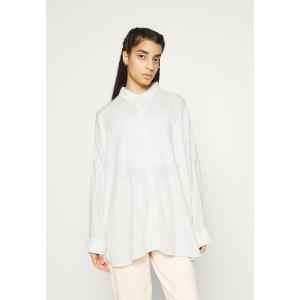 アメリカンイーグル シャツ レディース トップス CORE OVERSIZED TAB SOLID - Button-down blouse - white|astyshop