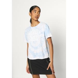 アメリカンイーグル Tシャツ レディース トップス TIE DYE BRANDED  - Print T-shirt - blue|astyshop
