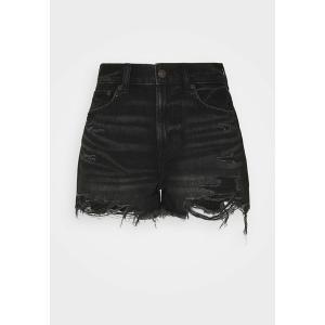 アメリカンイーグル デニムパンツ レディース ボトムス SUPER HI RISE FESTIVAL - Denim shorts - black slash|astyshop