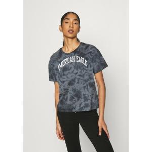 アメリカンイーグル Tシャツ レディース トップス TIE DYE BRANDED  - Print T-shirt - black|astyshop