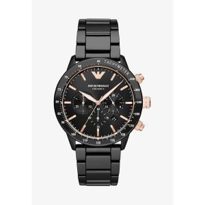 エンポリオ アルマーニ 腕時計 メンズ アクセサリー Chronograph watch - black|astyshop