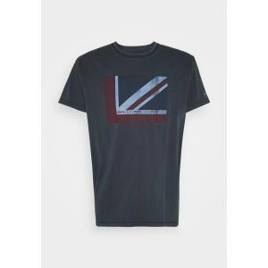 ペペジーンズ Tシャツ メンズ トップス RAMONE - Print T-shirt - dark blue astyshop
