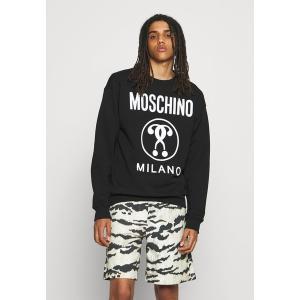 モスキーノ パーカー・スウェットシャツ メンズ アウター Sweatshirt - black astyshop