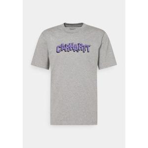 カーハート Tシャツ メンズ トップス SHATTERED SCRIPT - Print T-shirt - grey heather astyshop
