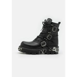 ニューロック ブーツ&レインブーツ メンズ シューズ UNISEX - Platform ankle boots - black|astyshop
