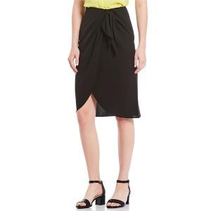 アレックスマリー レディース スカート ボトムス Shannon Tie-Front Tulip Hem Skirt Black|astyshop