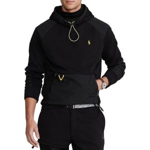 ラルフローレン メンズ パーカー・スウェットシャツ アウター Solid Double-Knit Hybrid Hoodie Polo Black astyshop