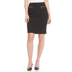 トミー ヒルフィガー レディース スカート ボトムス Metal Zipper Trim Pencil Skirt Black|astyshop