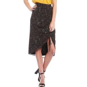 ジアーニビニ レディース スカート ボトムス Molly Ditsy Floral Print Hi-Low Chiffon Midi Skirt Ditsy Swirls|astyshop