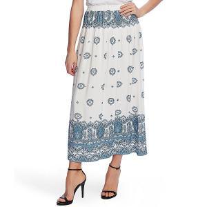 ヴィンスカムート レディース スカート ボトムス Medallion Print Pull-On Maxi Skirt Rapture Blue|astyshop