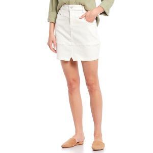 チェルシー&バイオレット レディース スカート ボトムス V Front Stretch Denim Mini Skirt French White|astyshop