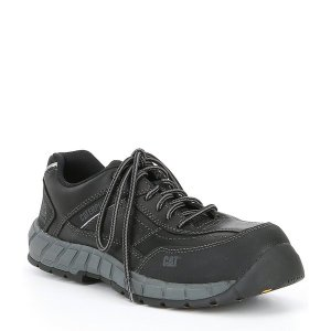 キャットフットウェア メンズ ブーツ&レインブーツ シューズ Men's Streamline Composite Toe Work Shoe Black|astyshop